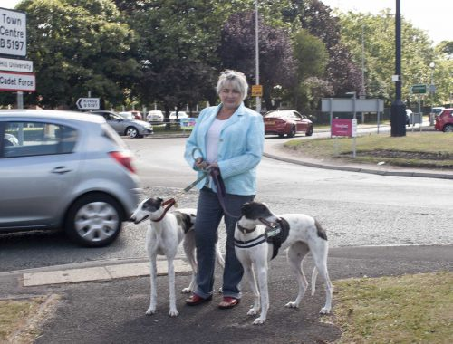 Kate Mitchell by fire station Roundabout