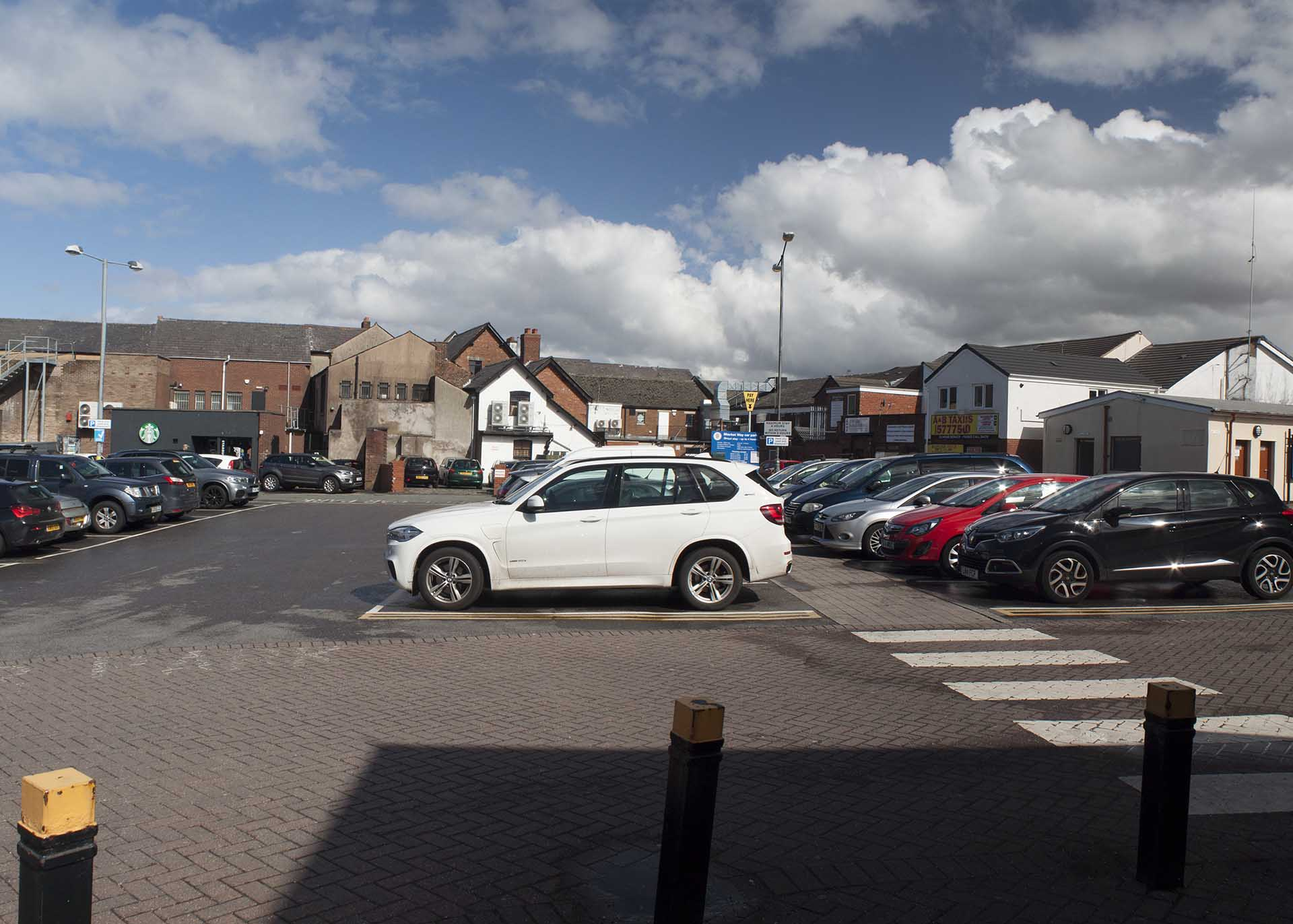 Marks and Spencer car park in Ormskirk